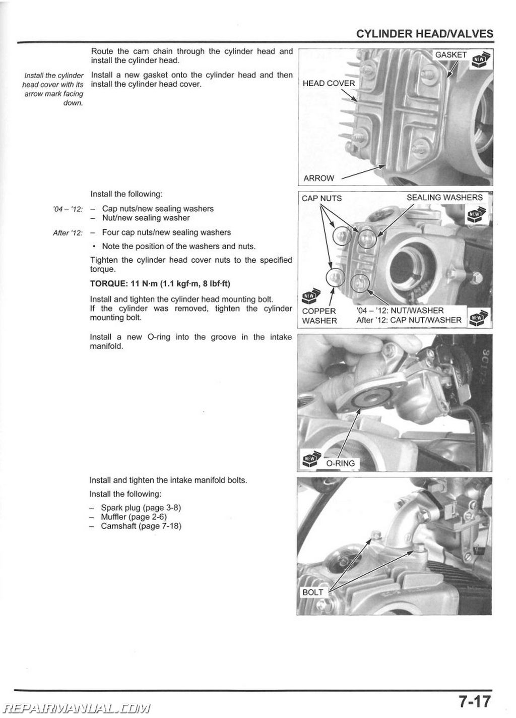 honda recon 250 repair manual