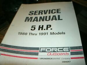 1988 force 75 hp outboard manual