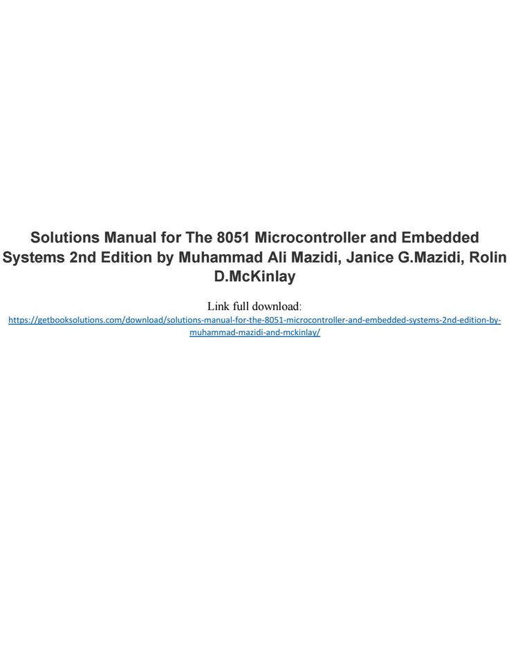 avr microcontroller and embedded systems solutions manual
