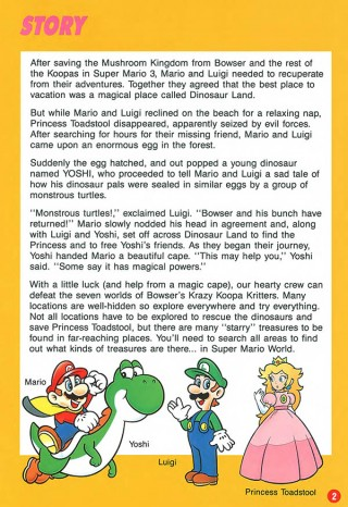 snes mario world 2 manual
