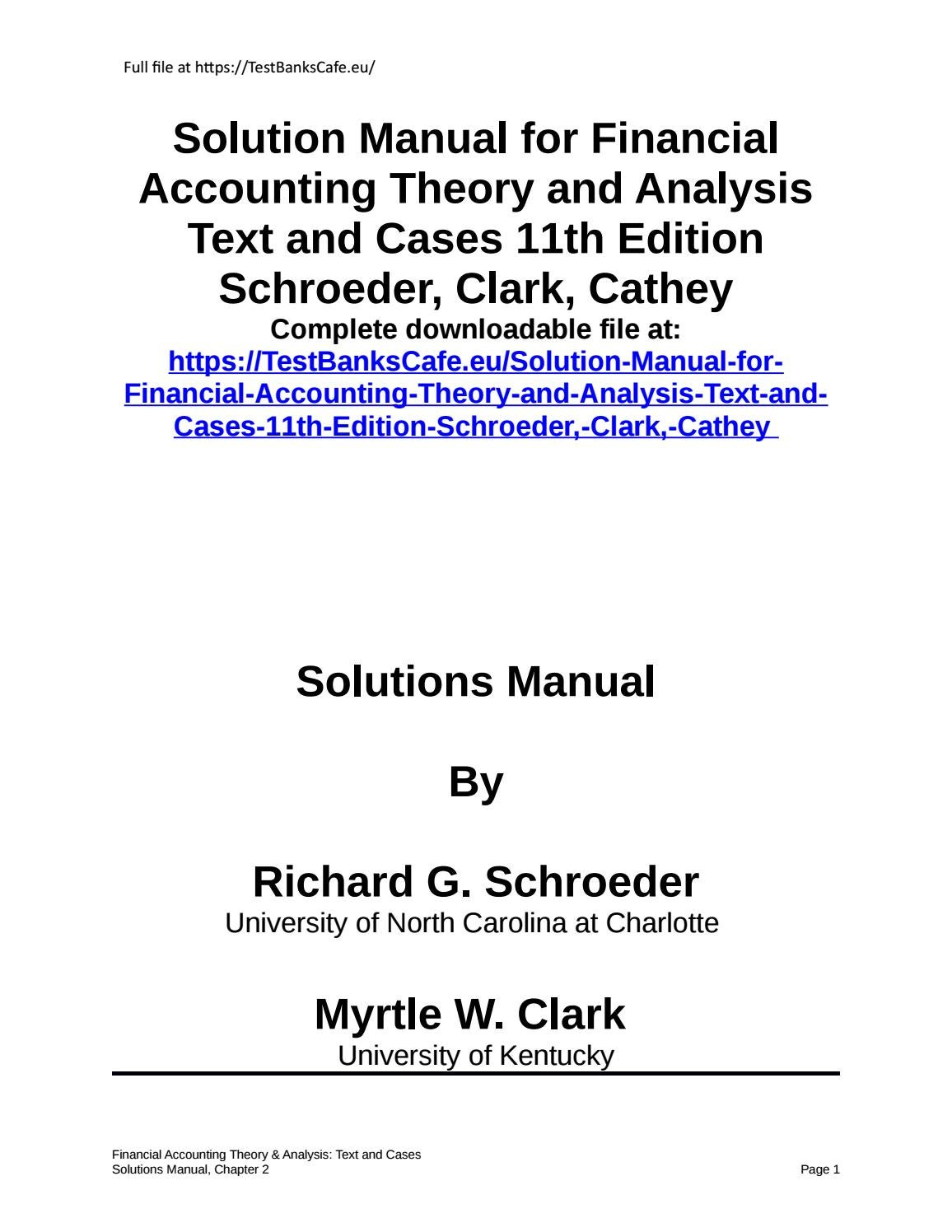 financial statement analysis 10e solution manual