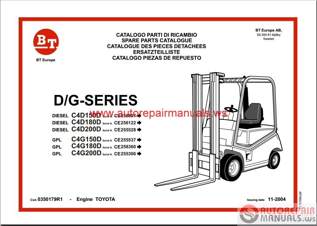 free parts manuals online forklifts