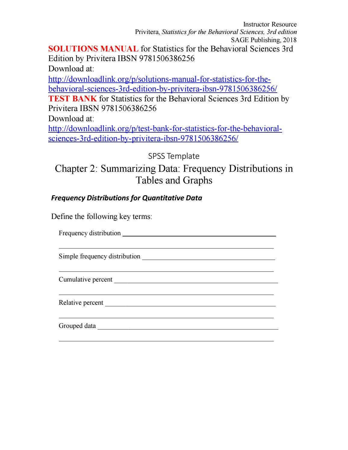 instructor solutions manual for statistics for the life sciences