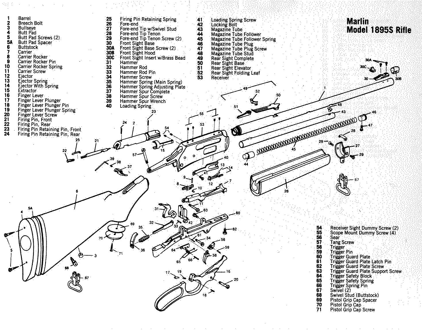 parts breakdown manual for model 29 savage pump action